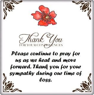 thank you for your comfort thank you for your condolences quotes and notes