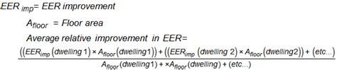 eer chart calculations