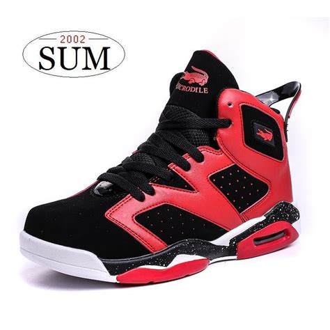 Sepatu Basket Air 6 High quality pu air sole plus size basketball shoes outdoor sneakers high help culture