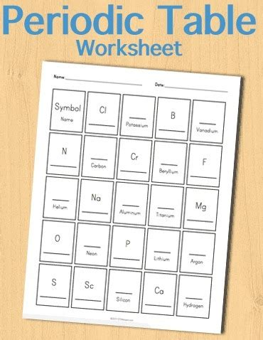 printable periodic table for 5th grade periodic table worksheet pdf lesupercoin printables