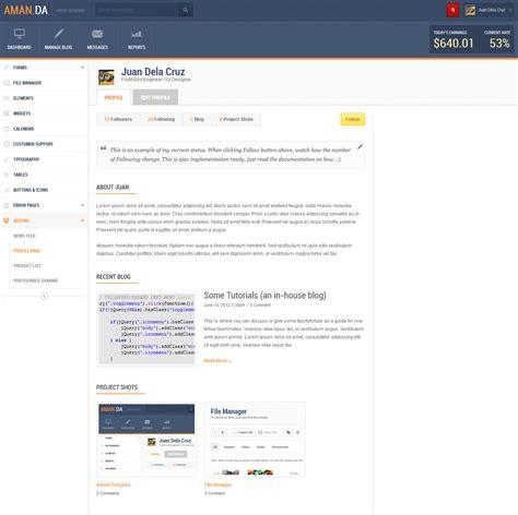 28 admin profile template flatlab flat responsive