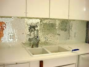 Mirror Kitchen Backsplash Good Glam Making A Splash