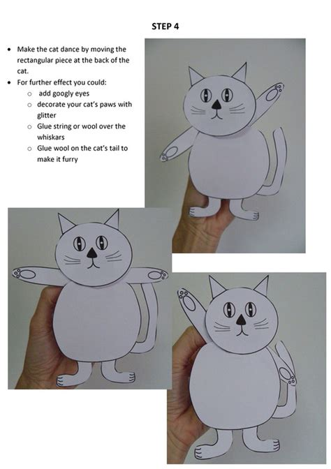 dancing cat puppet craft  kids