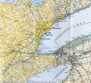 city map of toronto map of southern ontario itm
