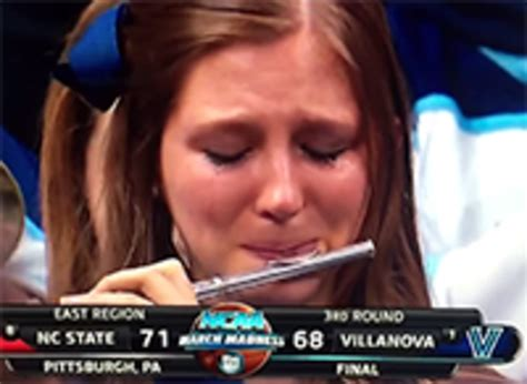 Flute Player Meme - villanova crying piccolo player know your meme
