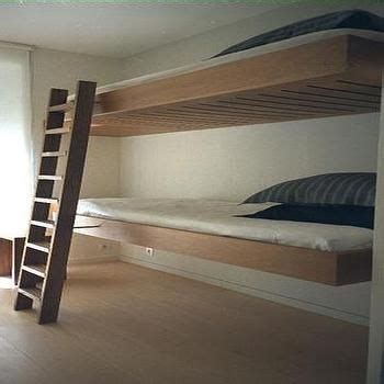 floating loft bed floating bunk beds modern boy s room bunk beds
