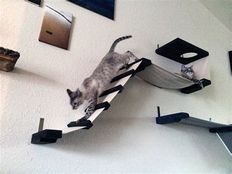 wandmeubel kat stretched fabric cat climbing structures from