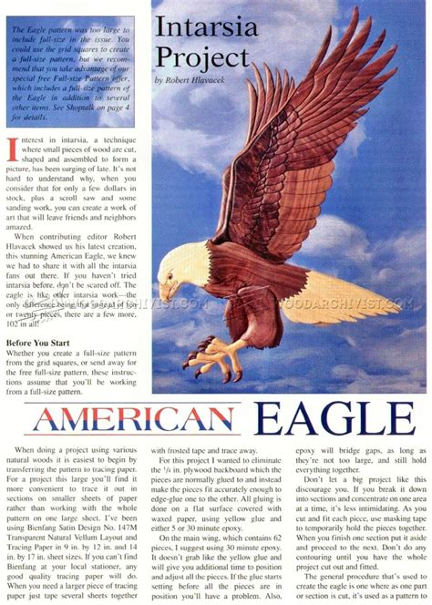 american eagle woodworking american eagle intarsia patterns woodarchivist