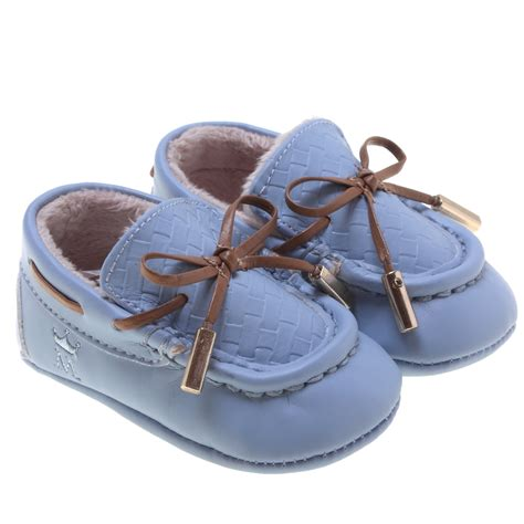 mayoral baby boys blue moccasin shoes