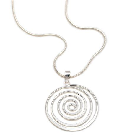Spiral Silver Necklaces silver spiral necklace by s web jewellery