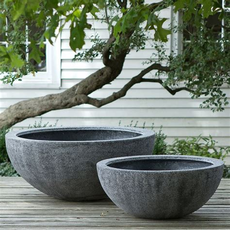 large garden pots and containers fiberstone bowl gardens beautiful and planters