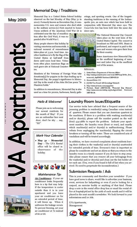 apartment complex sle newsletter apt newsletter