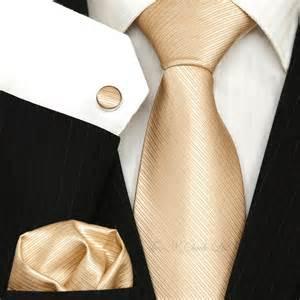 chagne gold wedding tie sets necktie sets wedding