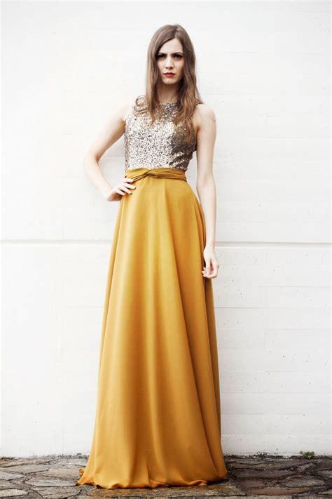vestidor largos vestidos largos mostaza