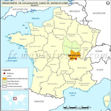 Saône et Loir: Carte de localisation, département de Saône et Loire, France