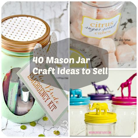 jar craft ideas 40 jar crafts ideas to make sell