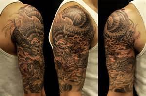 half sleeve dragon tattoo chronic ink