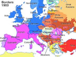Europe Map 1900 by The Demography Of Europe