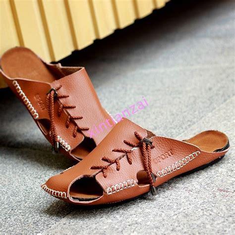 mens comfortable sandals mens leather strap fisherman comfort sandals closed toe