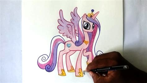 how to draw an alicorn princess from my little pony how to draw my little pony princess cadance alicorn pony