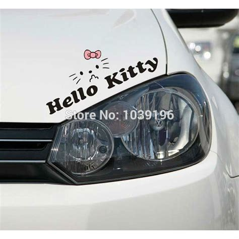 Sticker Toyota Avanza Hello Kity hello car stickers car reflective decal for toyota ford chevrolet volkswagen honda hyundai