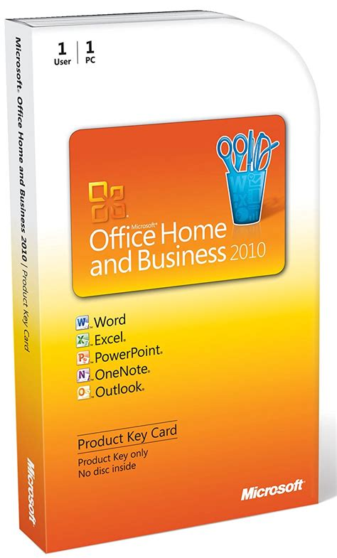 microsoft office home and business 2010 1 user product