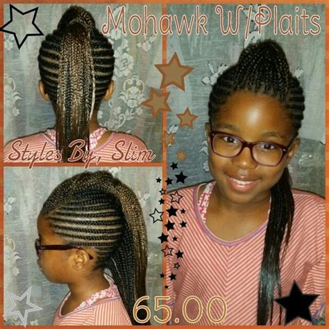 braided mohawk with senegalese twist cornrows into a mohawk with an under single twist down the