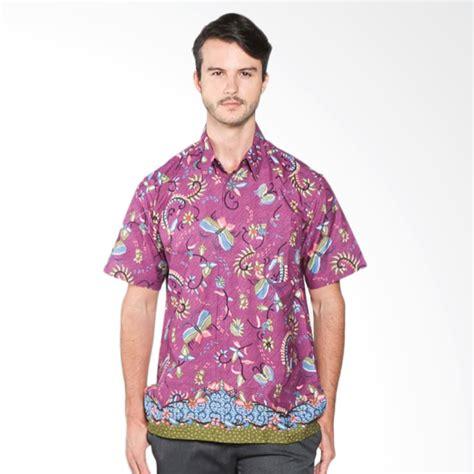 Kemeja Batik Ungu jual batik distro k7864 motif kupu warna kemeja pria