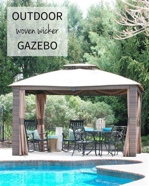 Backyard Creations Hexagon Gazebo Backyard Creations Woven Post Gazebo 28 Images 7