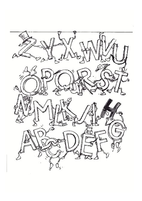 coloring page alphabet  printable coloring pages