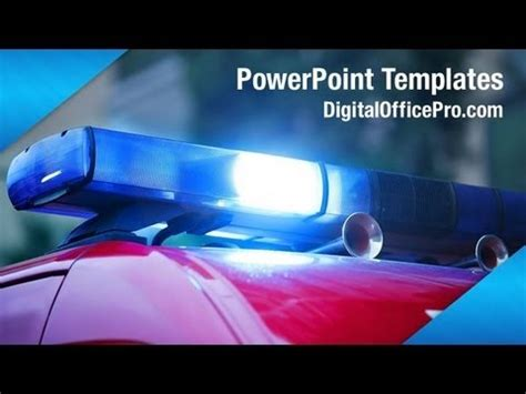 Police Car PowerPoint Template Backgrounds