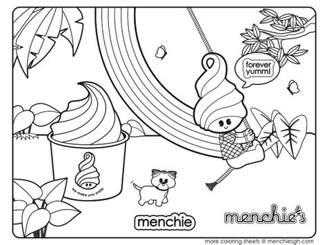 gallery for gt menchies coloring pages
