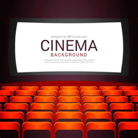 fondo cinema fondo de cine con butacas descargar vectores gratis