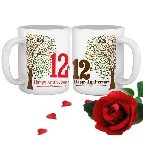 12th Wedding Anniversary Gift For by 12th Wedding Anniversary Gift For Collegue Relatives