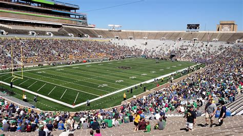 section 16 a notre dame stadium section 16 rateyourseats com