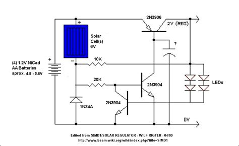 solar garden light circuit another solar charger light project