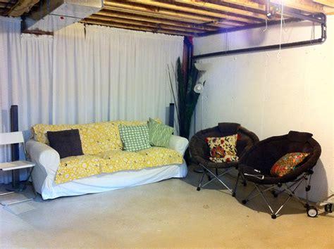 Decorating Ideas For Unfinished Basements Houseonashoestring Unfinished Basement Area