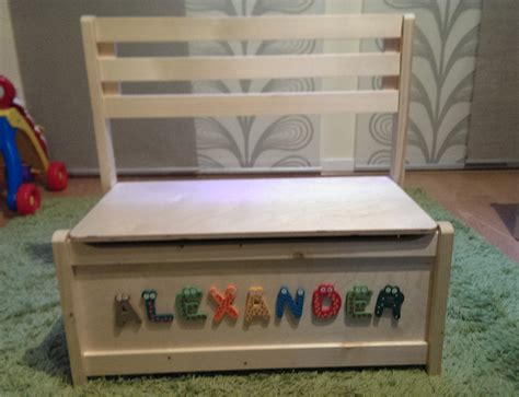 girls toy box bench personalised gift toy box unit storage kid wooden bench