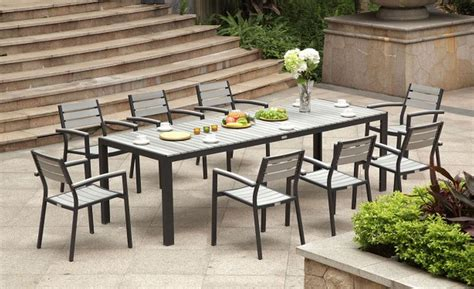 Modern Patio Table Modern Metal Outdoor Dining Table Chairs Seating