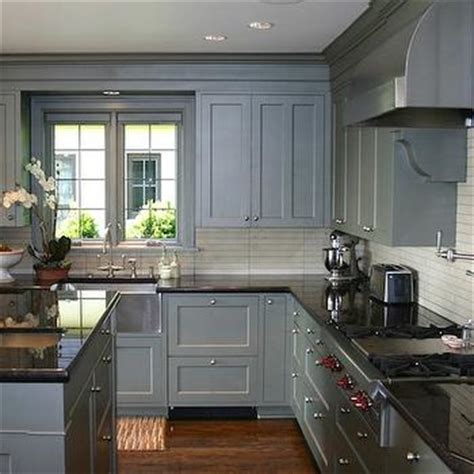 gray blue kitchen cabinets contemporary kitchen thom