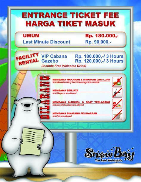 harga tiket masuk snowbay 2015 harga tiket masuk snowbay snowbay tmii on twitter quot
