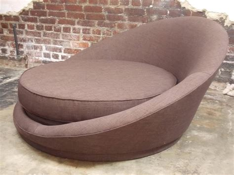 round ottoman chair milo baughman round loveseat or lounge chair with ottoman