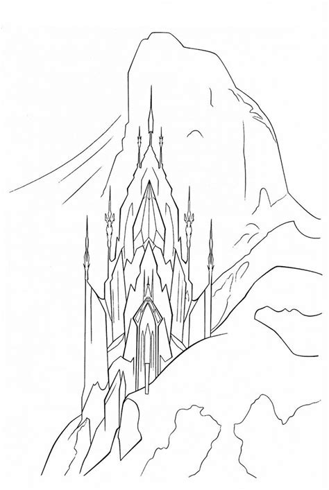 frozen coloring pages elsa castle elsa castle coloring page search projects