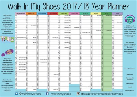 printable wall planner academic year free school year wall planner walk in my shoes