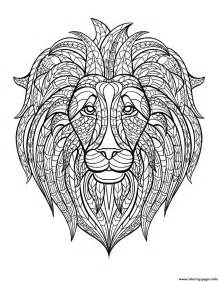 africa lion head coloring pages printable