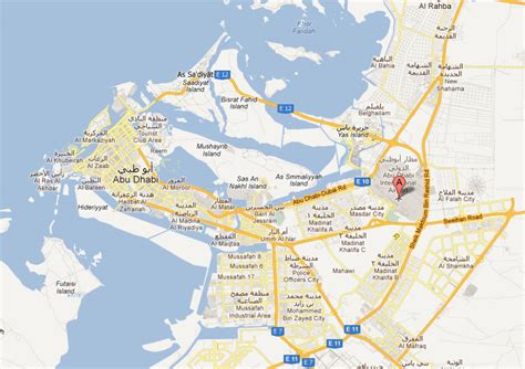 abu dhabi on map abu dhabi airport on maps