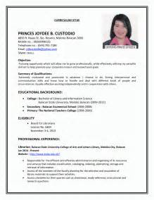 Resume For Vacancy Resume For Sle Home Design Idea Sle Resume And Resume