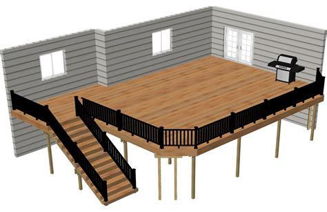 Deck Plan by Free Deck Plans Deck Building Plans Timbertech