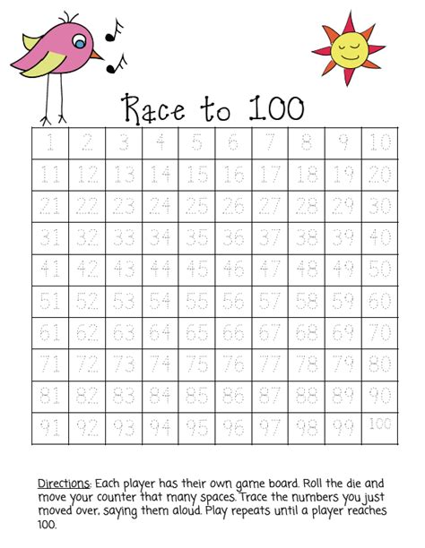 Tracing Numbers 1 50 Worksheets by Common Worksheets 187 Trace Numbers 1 100 Preschool And
