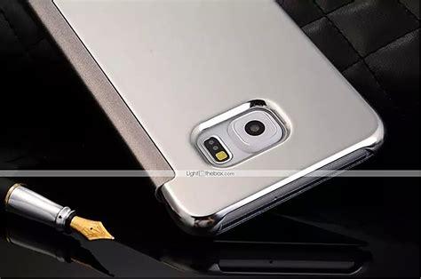 Flip Cover Mirror Transparan For Samsung S7 clear view mirror flip cover original transparent